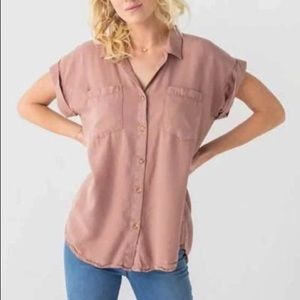 Thread and supply summer button down top XL